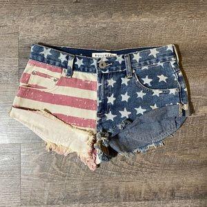 Bullhead American Flag Slouchy Shorts